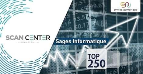 Sages Informatique, éditeur de ScanCenter et de la Ged Zeendoc, se hisse à la 174° position du top 250 des éditeurs de logiciels français